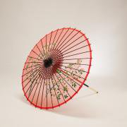 絹傘70cm 花柄 / 赤