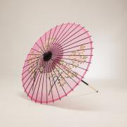絹傘70cm 花柄 / ピンク