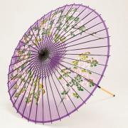 【再入荷】絹傘90cm 桜絵 / 紫