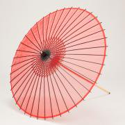 絹傘90cm 無地 / 赤
