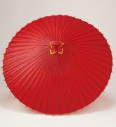 蛇の目傘 105cm 無地 / 赤