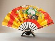 飾り扇子(台付き)  9寸5分花車/桜