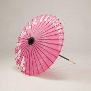紙傘64cm 短柄 ちょうちょ / ピンク