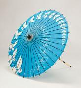 紙傘76cm 蝶々 / 水色