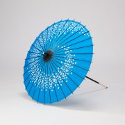 紙傘64cm 花渦 / 青