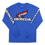 Metro Racing Team Honda Wing Logo L/S Tee - Blue