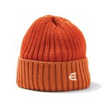 EVISEN COTTON 2TONE KNIT CAP - ORANGE