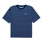 Polar Skate Co. Striped Terry Tee - Navy/Violet