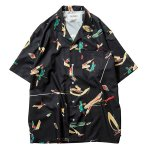 <img class='new_mark_img1' src='//img.shop-pro.jp/img/new/icons5.gif' style='border:none;display:inline;margin:0px;padding:0px;width:auto;' />TBPR JUN INOUE ALOHA SHIRT - Black