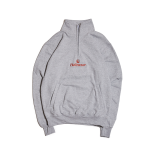 Hellrazor Trademark Logo Half Zip Sweater - Grey