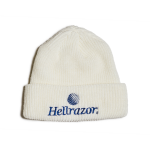 Hellrazor Trademark Logo Watch Cap - White