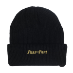 <img class='new_mark_img1' src='//img.shop-pro.jp/img/new/icons5.gif' style='border:none;display:inline;margin:0px;padding:0px;width:auto;' />PASS~PORT Script Embroidery Beanie - Black
