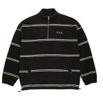 <img class='new_mark_img1' src='//img.shop-pro.jp/img/new/icons5.gif' style='border:none;display:inline;margin:0px;padding:0px;width:auto;' />POLAR SKATE CO. STRIPED FLEECE PULLOVER - Black