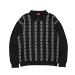 <img class='new_mark_img1' src='//img.shop-pro.jp/img/new/icons5.gif' style='border:none;display:inline;margin:0px;padding:0px;width:auto;' />HELLRAZOR Chain Half Zip Knit Sweater - Black