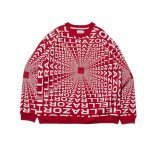 HELLRAZOR x DOWN NORTH CAMP Gravitate Crew Neck - Red