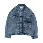 <img class='new_mark_img1' src='//img.shop-pro.jp/img/new/icons5.gif' style='border:none;display:inline;margin:0px;padding:0px;width:auto;' />EVISEN Rinda Denim Jacket - Chemical Blue