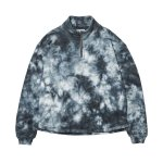 EVISEN Tie Dye Zip Sweat - Black