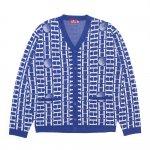 HELLRAZOR H Mono Cardigan Sweater - Blue