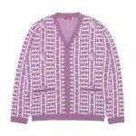 HELLRAZOR H Mono Cardigan Sweater - Lavender
