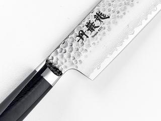 【丹巌龍プレミアム・マイカルタ 菜切160mm】  VG10鋼 鍛造 鎚目打ち ダマスカス