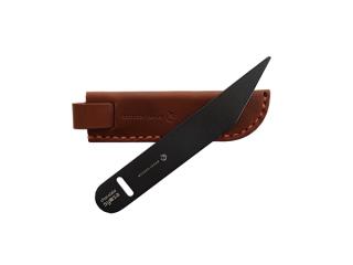 【チョコレート所作】 「ブラック」 2点セット(ナイフ+レザーケース)