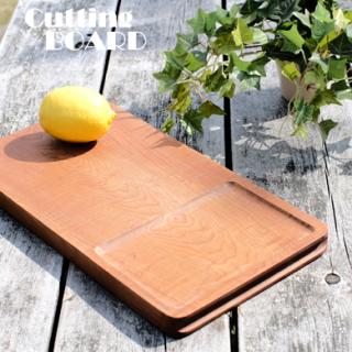 無垢材・一枚もの 【2WAYカッティングボード】カナダ製 天然カーリーメープル材 まな板