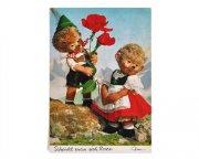 西ドイツ ヴィンテージカード<Mecki・バラを持ったMacki>