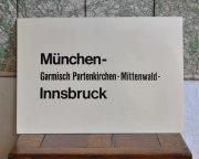 ドイツ国営鉄道 行き先表示板 Munchen ー Innsbruck