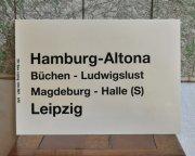 ドイツ国営鉄道 行き先表示板 Hamburg Altona ー Leipzig