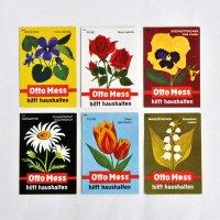 西ドイツのマッチラベル<Otto Mess/花>