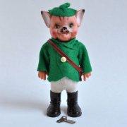 ドイツ ヴィンテージ ゼンマイ人形<長靴を履いた猫>