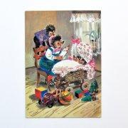 東ドイツ ヴィンテージポストカード<ハリネズミの親子・ベビー>
