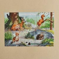 フランスの切手<森の動物・シート>