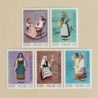 フィンランドの切手<民族衣装・1973年>