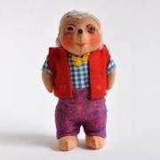 東ドイツ ハリネズミのお人形 Mecki<ジャンボ・鳴き笛入り>