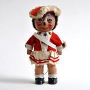 ドイツ ハリネズミの人形Mecki /Micki セルロイド <赤い軍服>