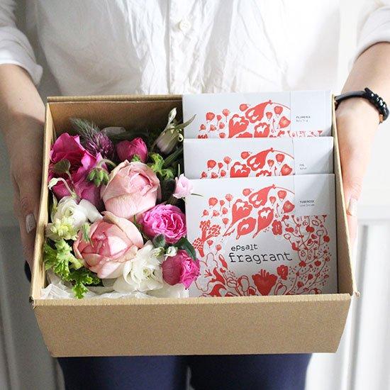 生花とバスソルト母の日ギフトセット【NEHAN TOKYO×OEUVRE】
