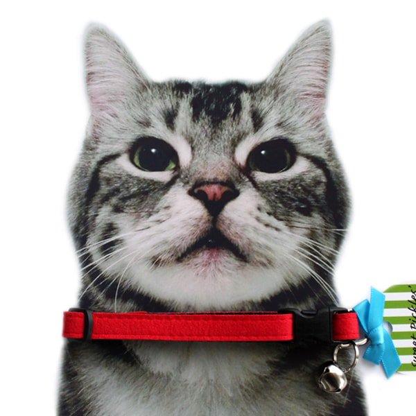 猫の首輪[Luxe]キャットカラー ウルトラスエード レッド