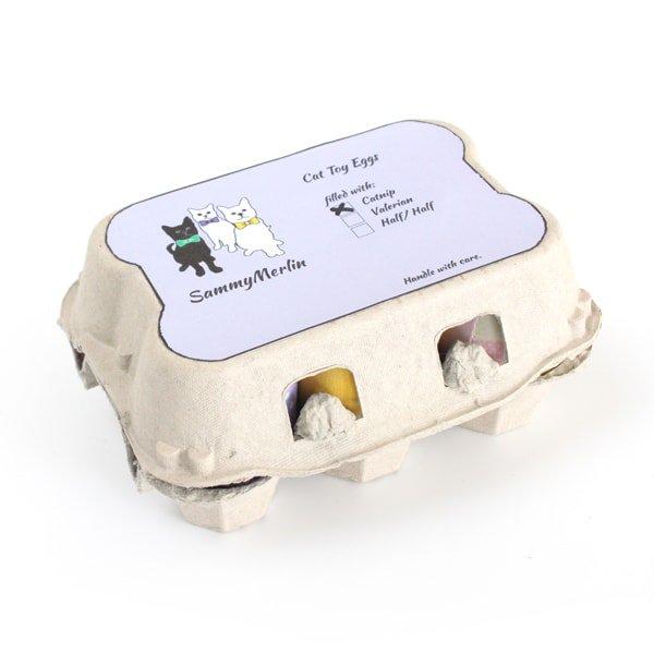 猫のおもちゃ[キャットニップ・エッグ](1パック/6個入り)けりぐるみ