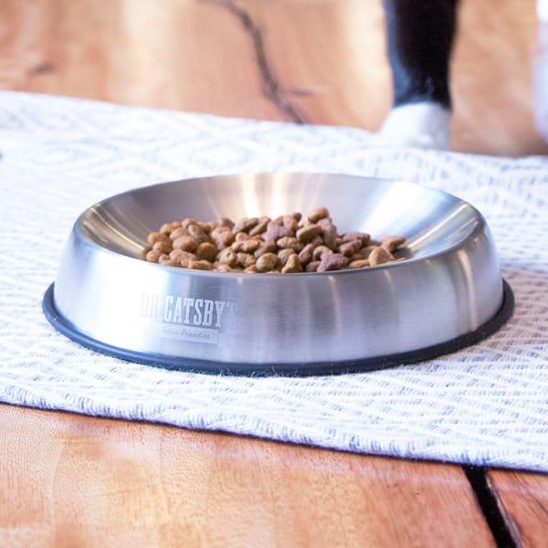 おしゃれで食べやすい猫フードボウル[ドクター・キャッツビー]ステンレス製|Dr. Catsby's Bowl