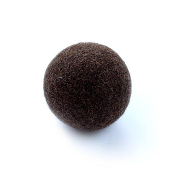猫おもちゃ[ころころフェルトボール]単品|ダークチョコ