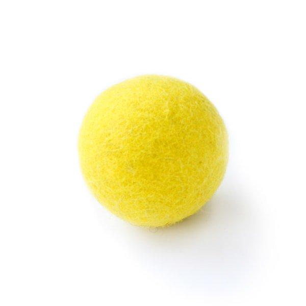 猫おもちゃ[ころころフェルトボール]単品|レモン