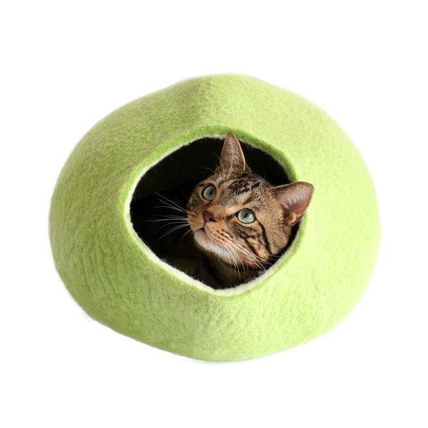 猫ハウス・猫ベッド*ウールフェルト[キャットポッド]ライム