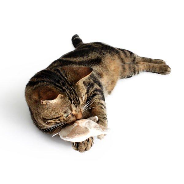 猫おもちゃ[キャットニップ・ミトン]天然素材のけりぐるみ