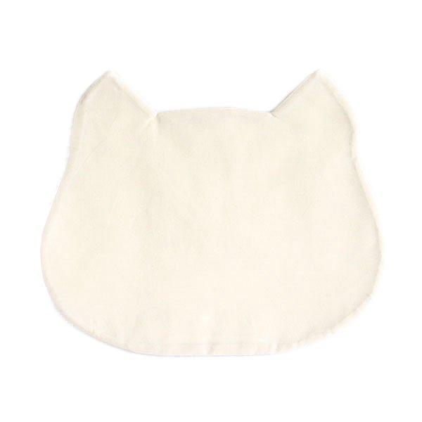 猫のフードマット(ランチョンマット)|細身・横ストライプ/ブルー×ホワイト