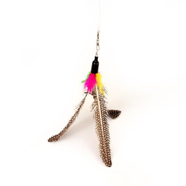 猫じゃらし[スピニング・フェザー]釣り竿 羽根 猫おもちゃ