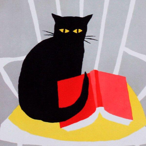 猫ポスター[本を読もう]おしゃれなインテリアアート18