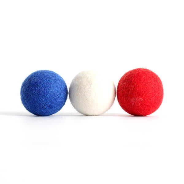 猫おもちゃ[ころころフェルトボール]3ピース ボックスセット|フレンチトリコロール