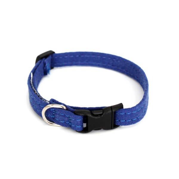 猫の首輪[ヘンプ×オーガニックコットン]ブルー