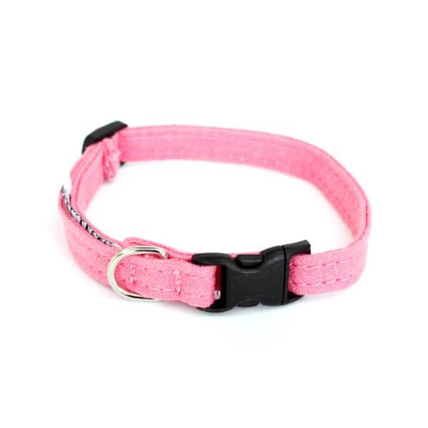 猫の首輪[ヘンプ×オーガニックコットン]ピンク